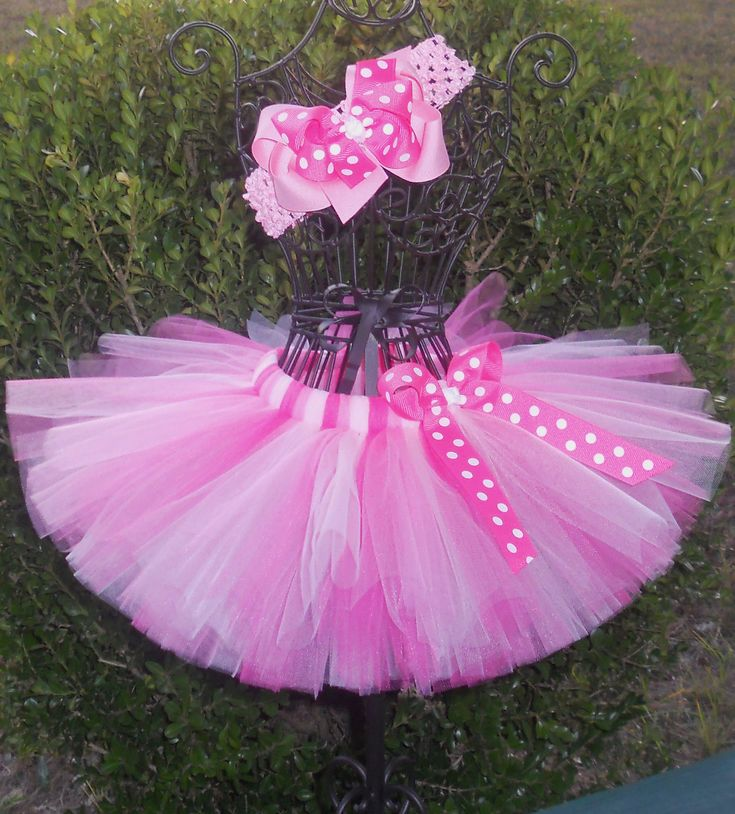Pretty In Pink Tutu Set-Baby Tutu-Girls Tutu-Birthday-Dance Tutu-Ballet Tutu-Baby Shower-Princess-Flower Girl-Pageant-Photo Prop-FREE Hband. $22.00, via Etsy.
