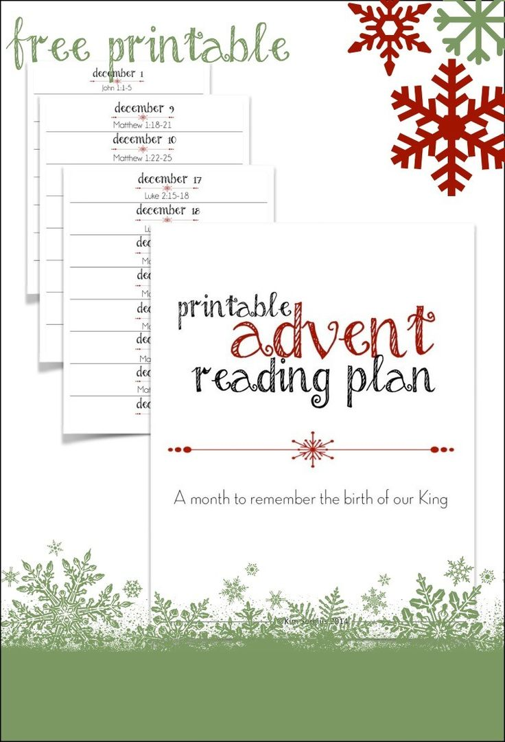 Free printable advent reading plan that tells the story of Christ's birth. Perfect for family devotions, Christmas Countdown chains, or Advent calendars!