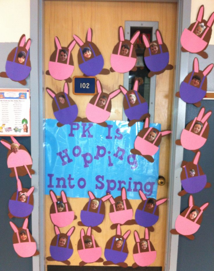 Classroom Ideas For Easter ~ Easter bulletin board idea or classroom door decoration