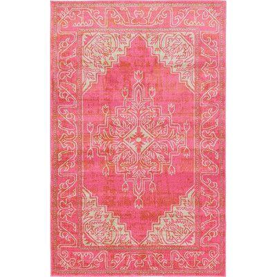 unique loom stockholm pink area rug u0026 reviews wayfair