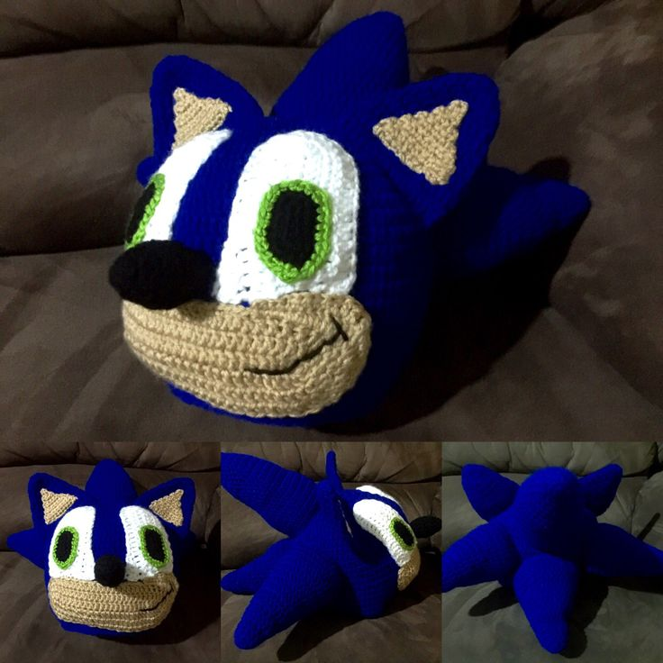 Crochet Sonic the Hedgehog beanie