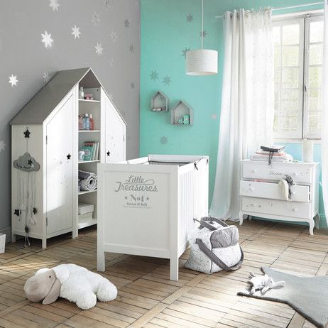 armoire enfant en bois blanche l 45 cm songe maisons du. Black Bedroom Furniture Sets. Home Design Ideas