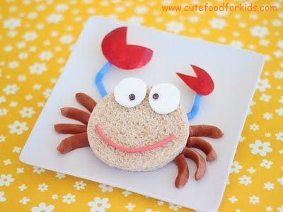 How could you be crabby with a cute snack like this?