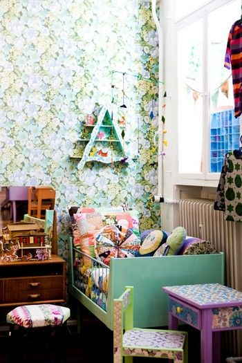 Cutest kid room.: Kids Bedrooms, Fun Kids Rooms, Toddlers Beds, Girls Bedrooms, Child Rooms, Retro Bedrooms, Little Girls Rooms, Home Decor, Vintage Kids Rooms