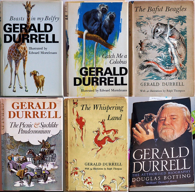 A selection of Gerald Durrell books.