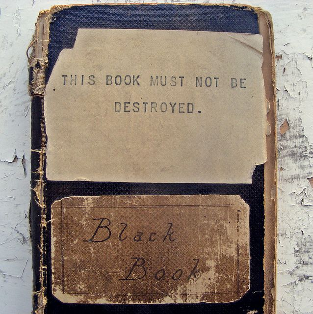 "The original little black book...? The closest I can get to a source for this is image is the following article ""What follows is a conversation between the book designer Peter Mendelsund and the author Mark Z. Danielewski.""   http://www.powells.com/blog/qa/qa-mark-z-danielewski-by-mark-z-danielewski/"