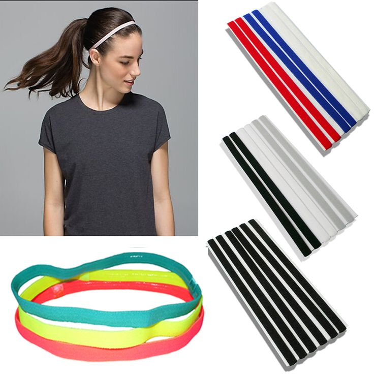 Sports Elastic Headband Football Softball Rubber Plastic Silicone Hair Band Bandage On Head Gum For Hair