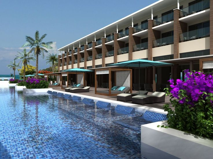 Hotel and swimming pool general view. #oceanvistaazul #oceanbyh10hotels #oceanhotels #h10hotels #h10 #hotel #hotels