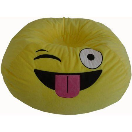 Versatile Upbeat Durable Easy Care Emoji Bean Bag GO EXPRESS YOURSELF SILLY Add A Whimsical Touch To The Next Time You Read Play Video Games