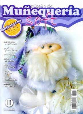 Revista de Muñecos soft, especial Navidad con el paso a paso y patrones gratis. Aprenderáscomo hacer un Papá Noel porta velas, precioso y dulce reno, santa en sillita, duende Navideño, árbolito es…