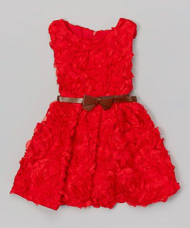 Look what I found on #zulily! Red Soutache Rihanna Dress - Toddler & Girls by Hannah & Lolly #zulilyfinds