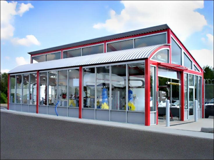 Designed as a pre-fab car wash but could also be pole barn or car storage