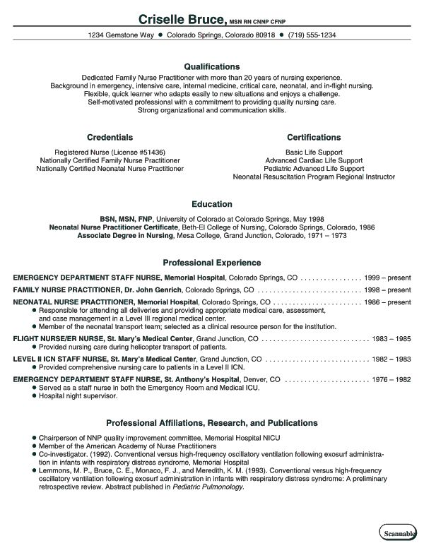 Good Nursing Resume Examples | Example Resume And Resume Objective