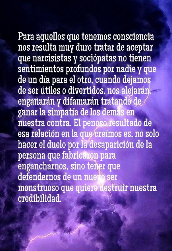 #SinConsciencia #Psicopatas #Narcisistas #Maltrato #RelacionesAbusivas https://www.facebook.com/Sobreviviendo-a-psic%C3%B3patas-y-narcisistas-814803528627865/