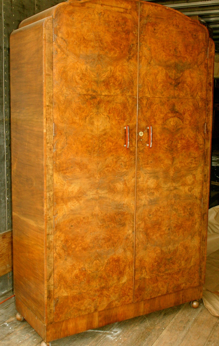 armoire art deco circa 1920 vintage furniture by. Black Bedroom Furniture Sets. Home Design Ideas