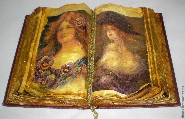 """Старинная книга """"Дамы XIX века """" - книга,книга ручной работы,Старинная книга"""