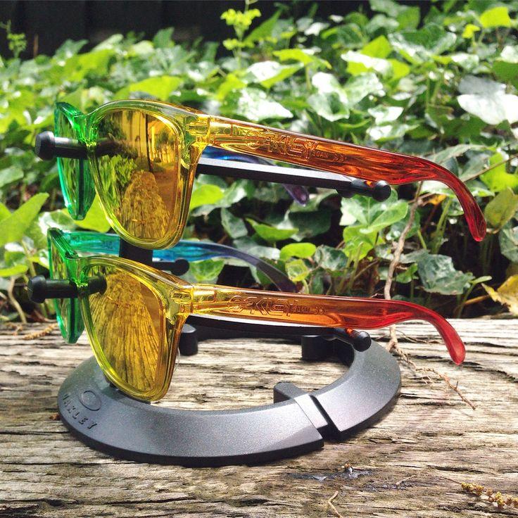 2 of 35 Oakley x Blends Frogskins Sunglasses - More: http://www.oakleyforum.com/forums/oakley-frogskins-discussion.22/