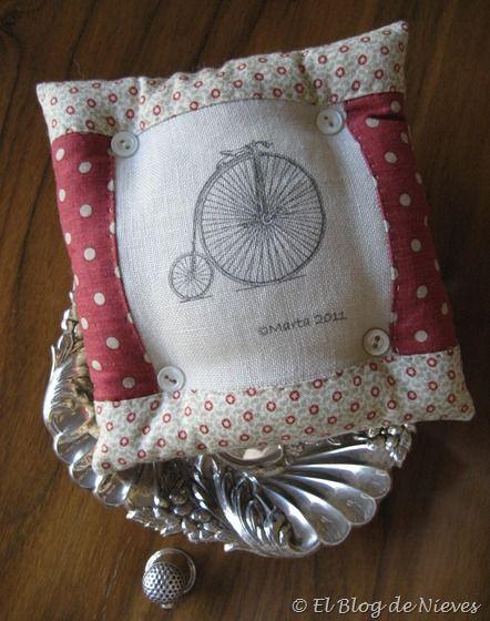 El biciclo pincushion Patchwork Quilting