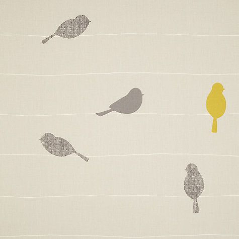 John Lewis Bird on a Wire Lined Eyelet Curtains - these would be cool as blinds in the kitchen.