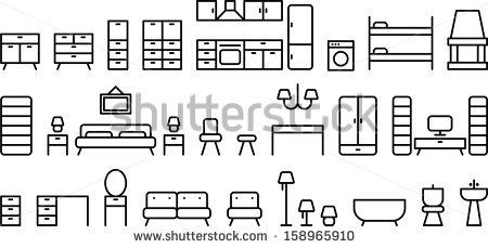 Furniture icons by andromina, via Shutterstock