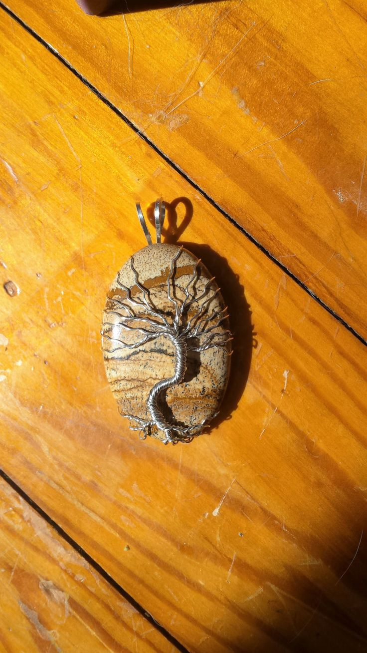 Picture Jasper Tree of life Pendant by PaintedPixieCreation on Etsy
