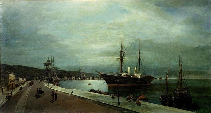 File:Κωνσταντίνος Βολανάκης - Φεγγαρόλουστη λιμάνι του Βόλου.jpg