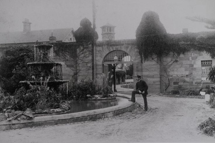 Parramatta Hospital for the Insane, fountain courtyard, 1883-1890, Parramatta City Council, LSP00124