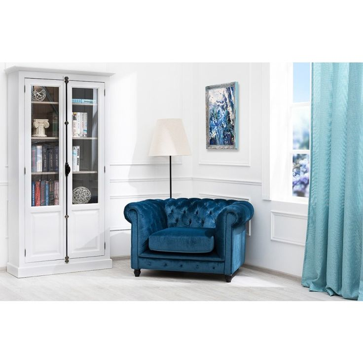 Классическое кресло Chesterfield из ткани My Little France