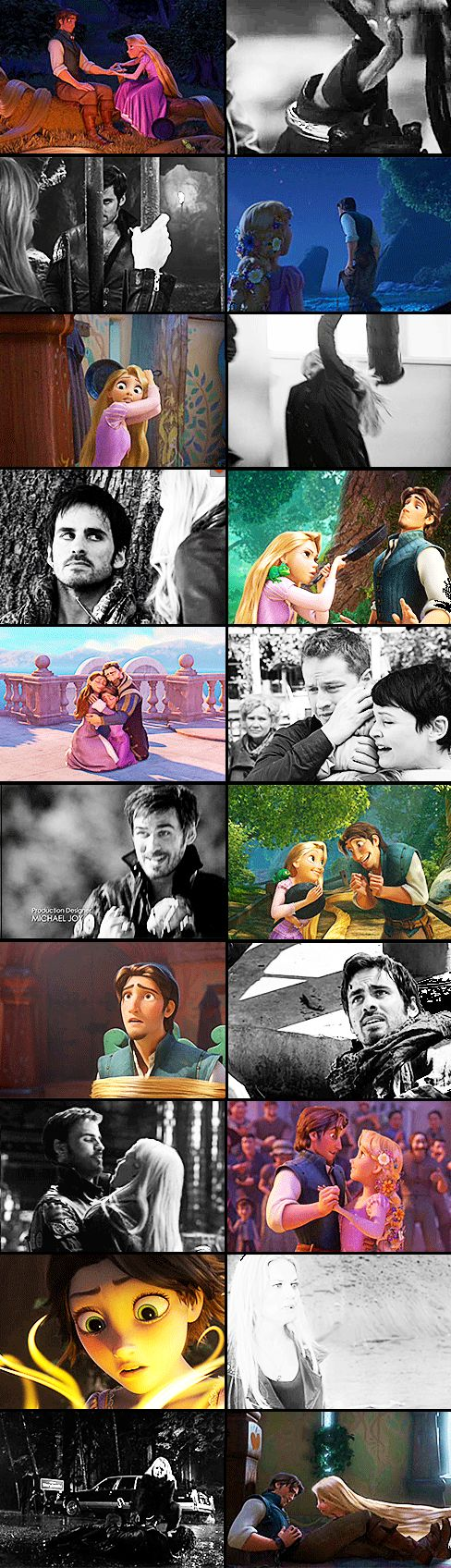 Captain Swan ouat ( Hook & Emma ) and Tangled ( Flynn Rider & Rapunzel ) - PARALLELS ❤