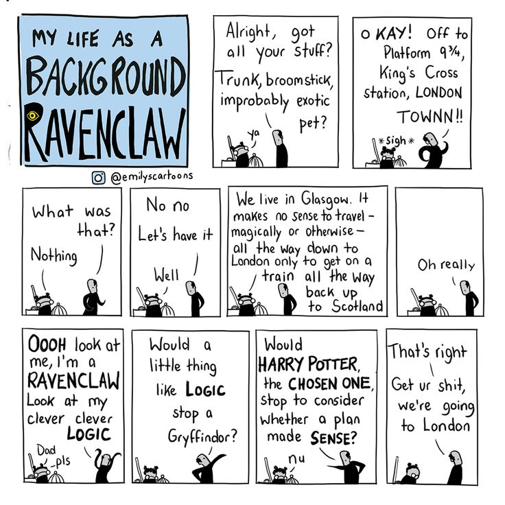 Emily's Cartoons - #SlytherinSunday special RAVENCLAW edition! More...