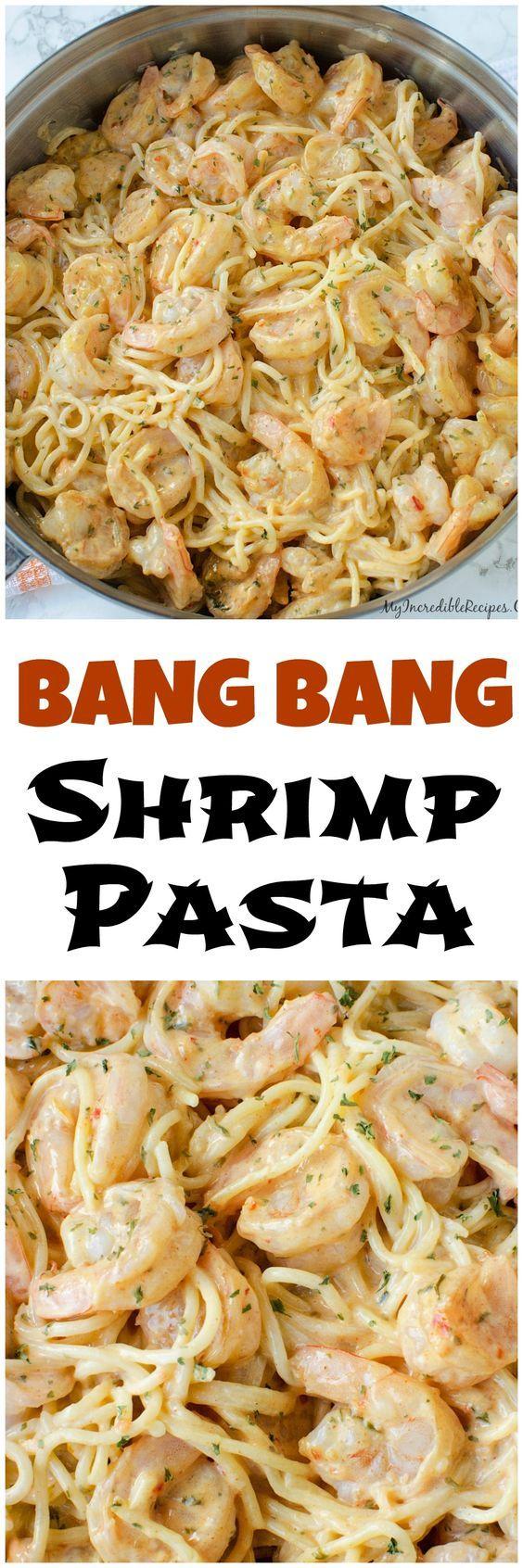 Bang Bang Shrimp Pasta!--- can also be made with chicken