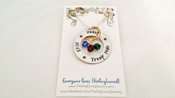 Girl Scout Bridging Necklaces Troop Gifts by FeelingLovedJewelry