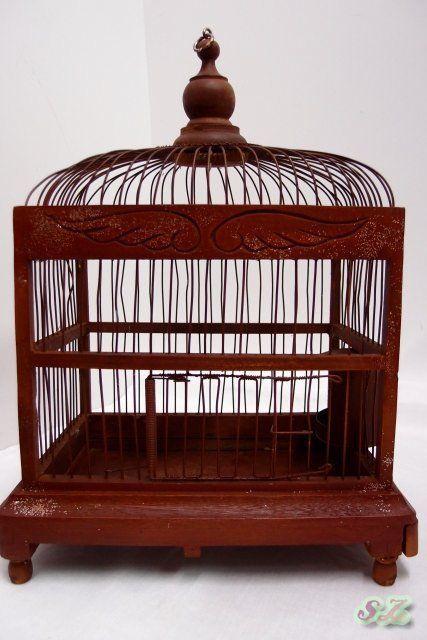 details zu vogelk fig holz vogel k fig alter singvogel holzk fig dekok fig vogelbauer. Black Bedroom Furniture Sets. Home Design Ideas