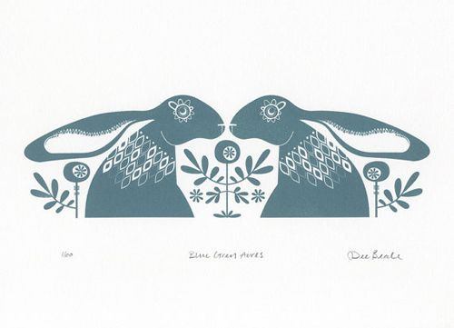 Dee Beale creates really lovely pieces with a Scandinavian feel. We are particularly fond of the hares of course.