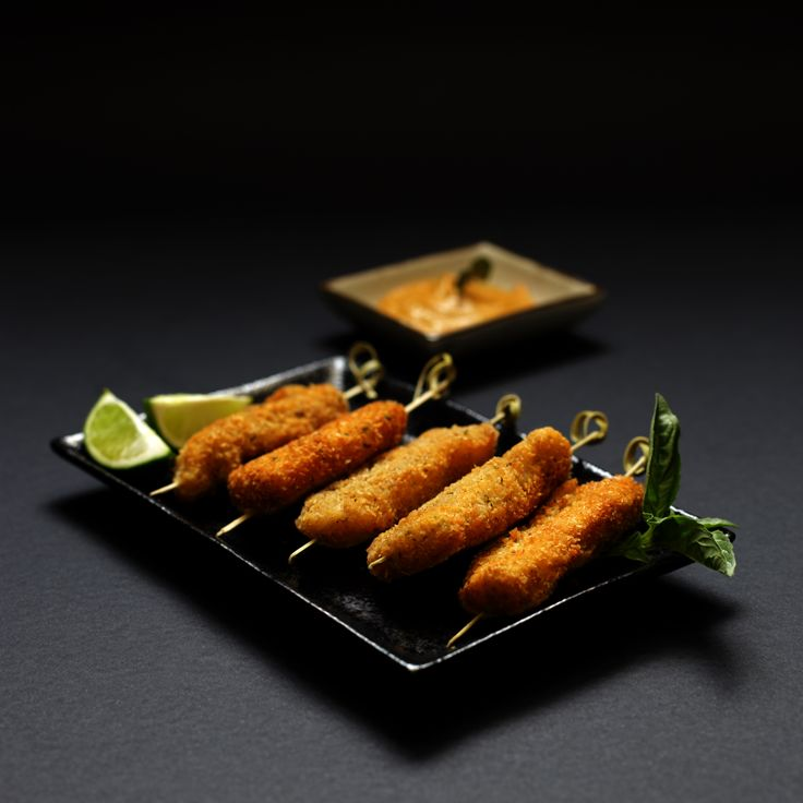 Chicken Goujons. These delicious treat are coated with coconut and breadcrumbs,lime zest and spices. Now available from Lebanese Feast for you cocktail party or pre-dinner drinks.