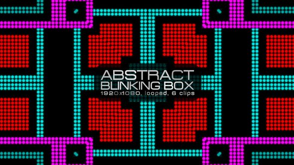 Abstract Blinking Box Video Animation | 6 clips | Full HD 1920×1080 | Looped | Photo JPEG | Can use for VJ, club, music perfomance, party, concert, presentation | #blinking #colorful #dance #digital #disco #dots #dynamic #glow #loop #music #pattern #pixel #rave #sequence #vj