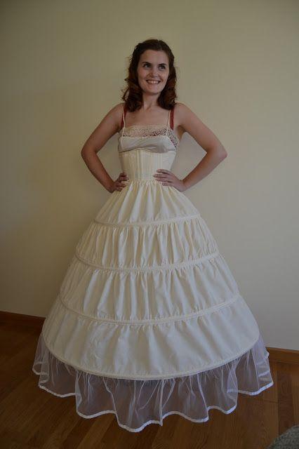 Scarlett dress undergarment: hoop skirt and corset
