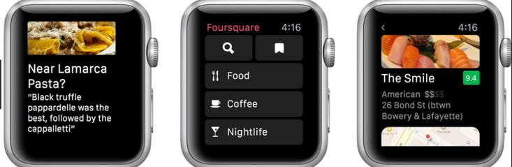 Smartwatch apps for Android Wear and Apple watches