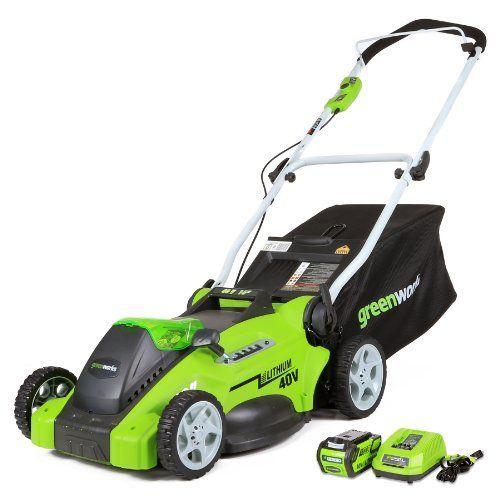 GreenWorks 25322 G-MAX 40V 16-Inch Cordless Lawn Mower, (
