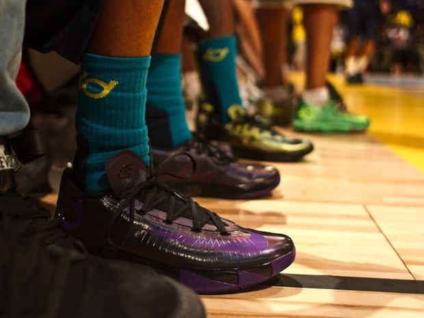 Günstige Kevin Durant VI Schuhe 2014 Oregon Streitkräfte Klassische PE