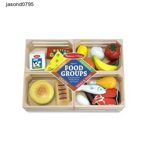 Childs Play Food Groups Melissa Doug Cook Wooden Toy Kitchen Playground Learning