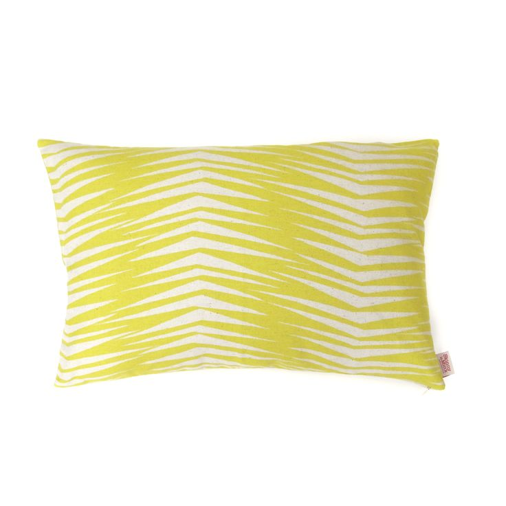 Fronds in Raffia by SkinnyLaMinx - buy these bold, bright and beautiful cushions in UK at wolfandapple.co.uk