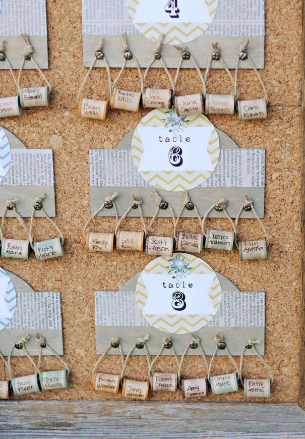 34 best wedding seating chart ideas images on pinterest wedding seating chart using little corks junglespirit Image collections
