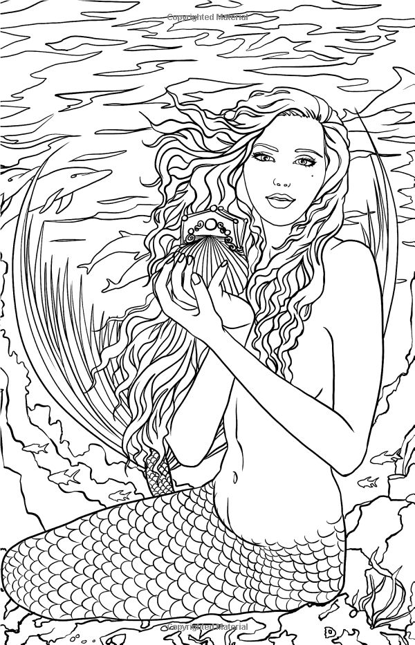 Artist Selina Fenech Fantasy Myth Mythical Mystical Legend Elf Elves Dragon Dragons Fairy Fae Wings Fairies Mermaids Mermaid Siren Sword Sorcery Magic Witch Wizard Coloring pages colouring adult detailed advanced printable Kleuren voor volwassenen coloriage pour adulte anti-stress kleurplaat voor volwassenen Line Art Black and White Magical Minis