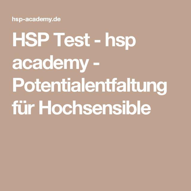 HSP Test - hsp academy - Potentialentfaltung für Hochsensible