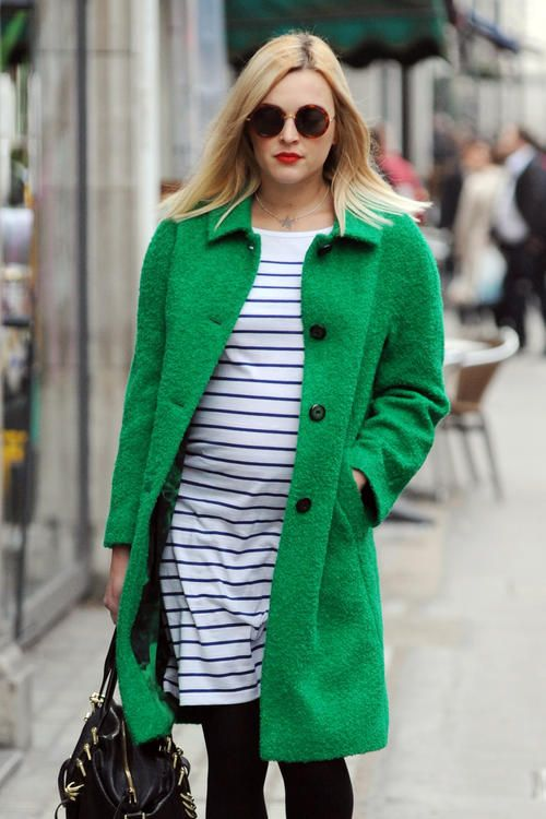 Fearne Cotton's green coat