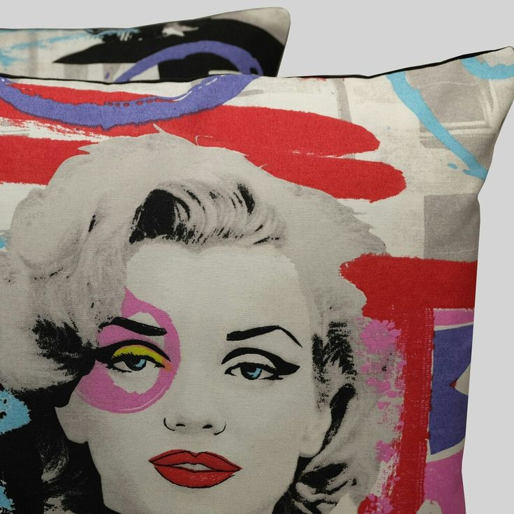 Pair of Marilyn Monroe & Audrey Hepburn cushion covers. Only one pair available new from Diverse Cushions