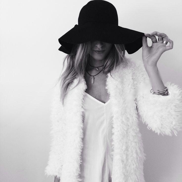 Model black and white
