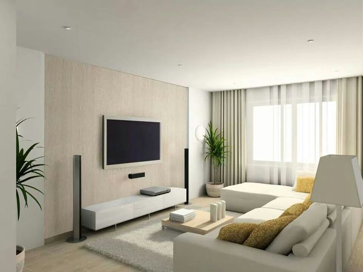 Surprsing small apartment living room ideas with modern white sofa sets and  chic wall pattern art with hanging TV. 114 best images about Interior design  Living room  Lounge on