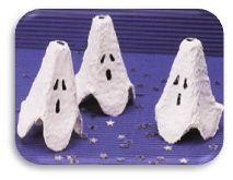 fantôme en boite d'oeuf!